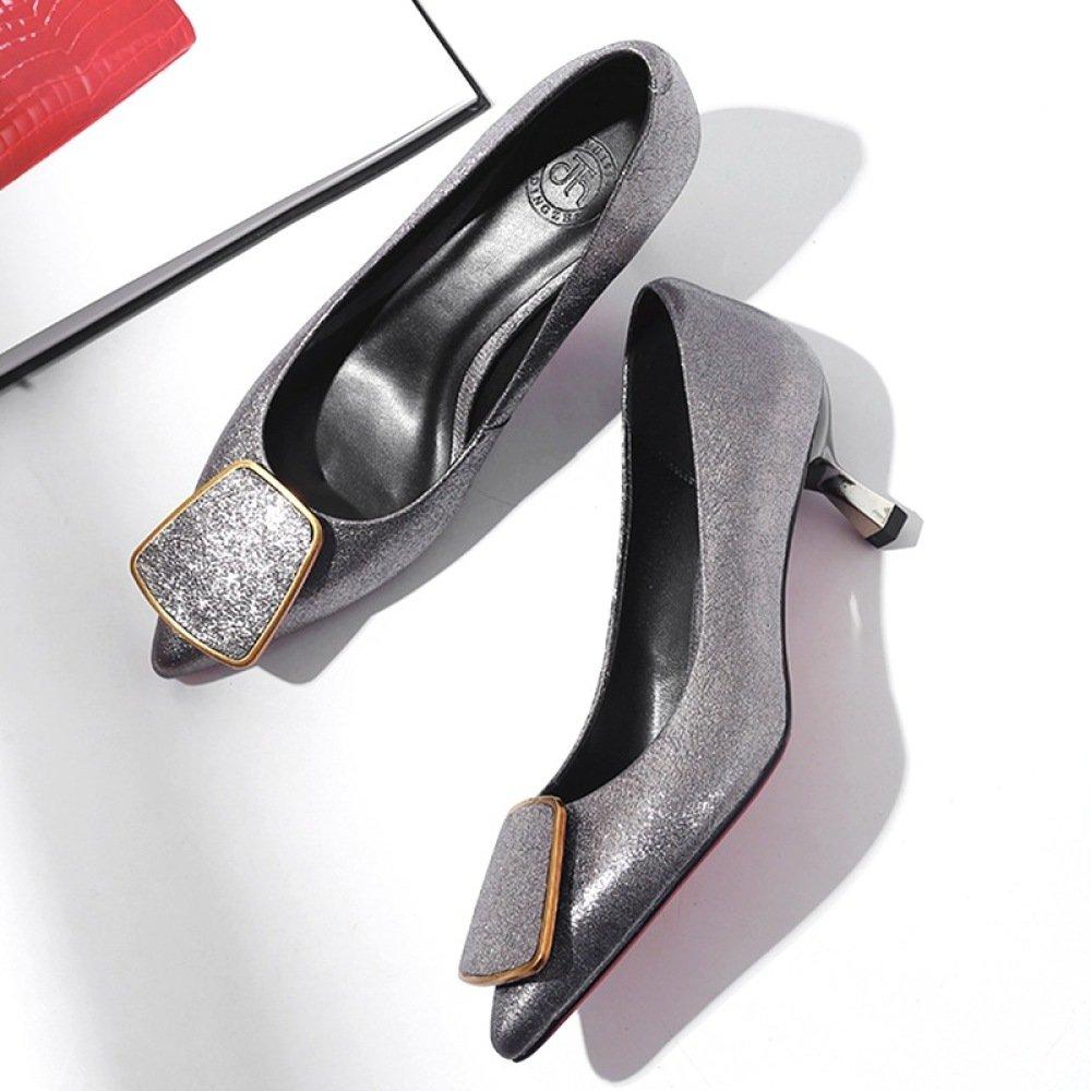 DKFJKI Damenschuhe Damenschuhe Damenschuhe Echtes Leder Einzelschuhe Tipp-Shallow Damen Low-Top-Schuhe Fashion Joker 1d94c5