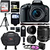 Canon EOS REBEL T7i Camera EF-S 18-55 IS STM Lens Kit, 64GB Memory Card, Camera Bag, 2.2x Telephoto Lens, Wide Angle Lens and Accessory Bundle