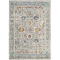 Safavieh Mystique Collection MYS924R Vintage Watercolor Grey and Multi Distressed Area Rug (5 x 8)