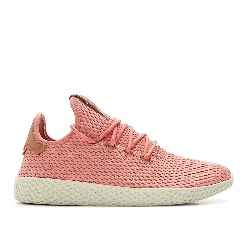 adidas Men's Pw Tennis Hu Sneaker B074RPVTC3 4 D(M) US|Tactile Rose / Raw Pink