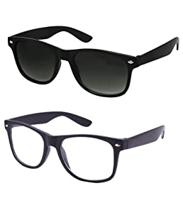 Ivonne new Collection Men's Sunglasses White & Black Combo pack of 2