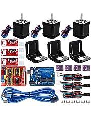 Longruner Nema 17 Moteur Pas à Pas Imprimante 3D professionnel Kit CNC Pour Arduino GRBL CNC Shield UNO R3 Board RAMPS 1.4