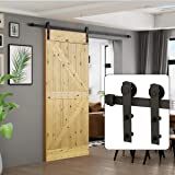 """U-MAX 6 Ft Sliding Barn Door Hardware Kit -Heavy Duty Sturdy, Smoothly and Quietly -Easy to Install - Fit 36""""-40"""" Wide Door P"""