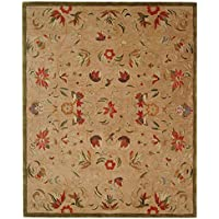 Safavieh Anatolia Collection AN525A Handmade Traditional Oriental Beige and Green Wool Area Rug (8 x 10)