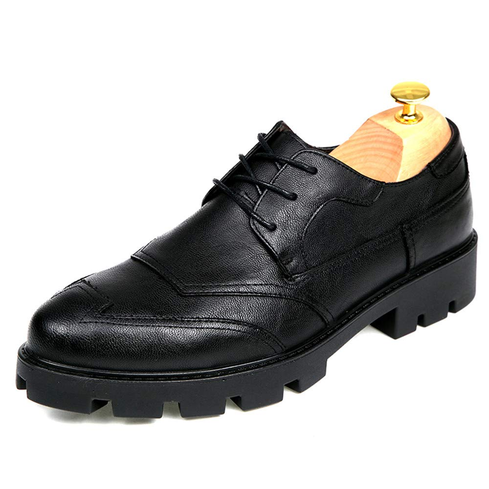 4875870da4505 ... Business Oxford Casual Fashion Height Increasing Insole Conventional  Patent Leather Brogue Shoes Abrasion Resistant 8.5 D(M) US