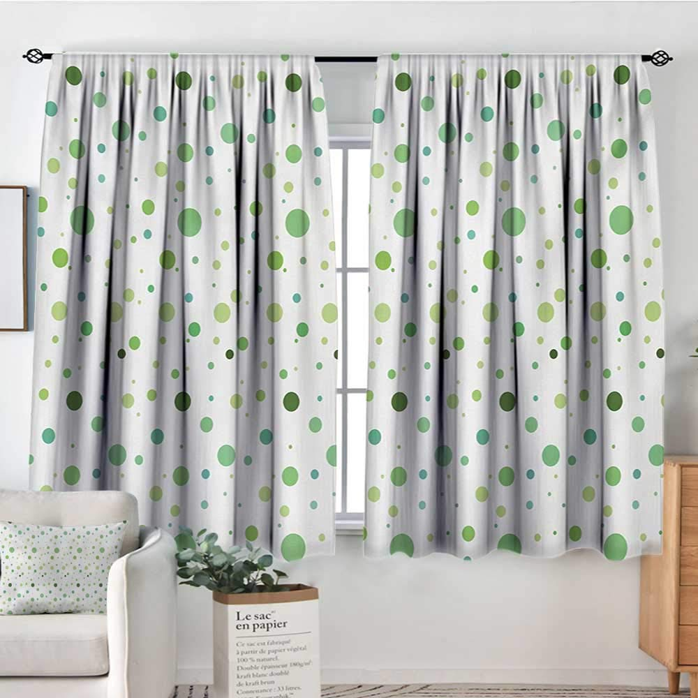 color15 63 W x 63 L Elliot Dgoldthy Curtains for Bedroom Green,Doodle Style Drawing of Alien Frogs Fantasy Theme Watercolors Cartoon Like Pattern Kids,Green,Insulating Room Darkening Blackout Drapes 42 x54