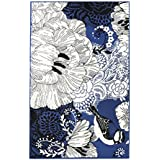 Vallila 68 x 110 cm Sinilintu Viscose Cotton Rug, Blue by Vallila