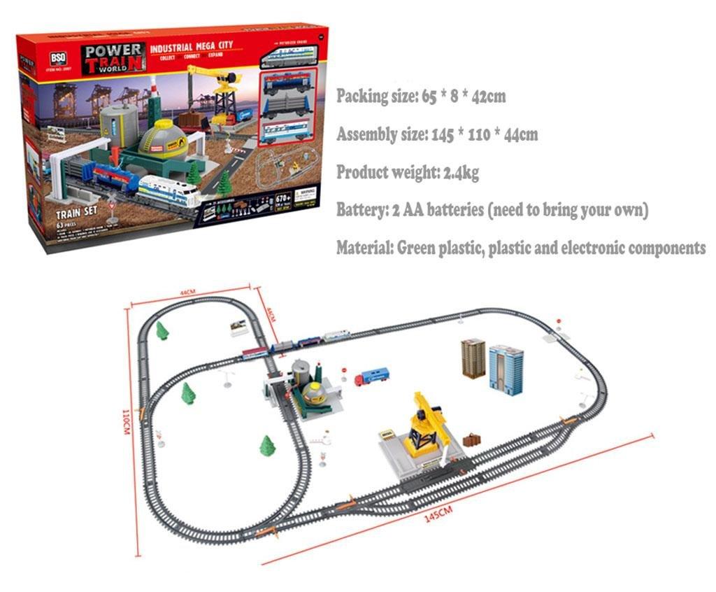 selección larga XY-QXZB City Heavy Haul Train 63 piezas de de de caja (670 cm de longitud total)  tienda en linea