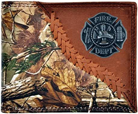 Custom Badger Fire Fighter Maltese Cross Long Wallet Hand Tooled