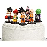 """Dragon Ball Z 4"""" Figures - 6 Pack Super Stars Goku Dragon Toys Action Figures Cake Toppers Set - Dragon Ball Toy Collection G"""