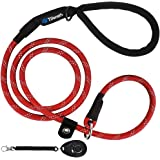 Slip-Lead Dog-Leash Medium-Training Rope - 6ft Foot Big Large Reflective Climbing Rope Leash Supports The Strongest Pulling L