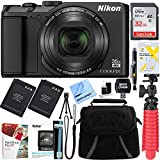 Nikon A900 20MP Longest Slim Zoom COOLPIX WiFi Digital Camera with 4K UHD Video 35x Telephoto NIKKOR Zoom Lens + 32GB Dual Battery Accessory Bundle (Black)