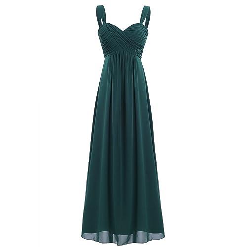 Freebily Vestido Elegante de Boda Fiesta Cóctel para Mujer Dama de Honor Vestido Largo de Tirantes Otoño