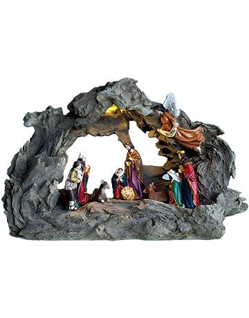 2f0b3105686 Flambeaux Belén de Luminosa Completo con Todas Las Figuras de Navidad –  Eclairage par LED