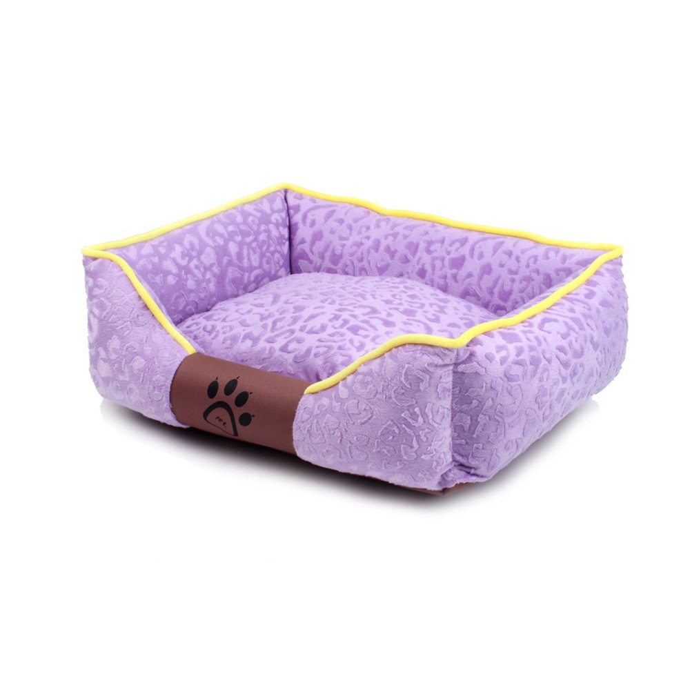 PURPLE XlYQQ Doghouse Pet Nest Dog Bed and Breakfast Cat Nest Sleeping Bag Large and Medium Sized Kennells Dog Supplies Rimable and Wasable (Colore: Verde, Dimensione: S)