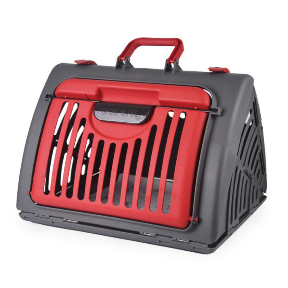 Red 362x470x387mm Red 362x470x387mm ZIOFV Package Storage Folding Pet Bags Foldable Pet Carrier Dog Bag Cat Design Bag Cat Pack
