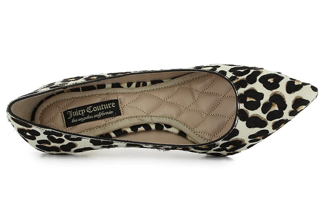 JUICY COUTURE Damen Micchele Lederschuhe Lederschuhe Micchele Schwarz (Cheetah Cow Hair) 753167