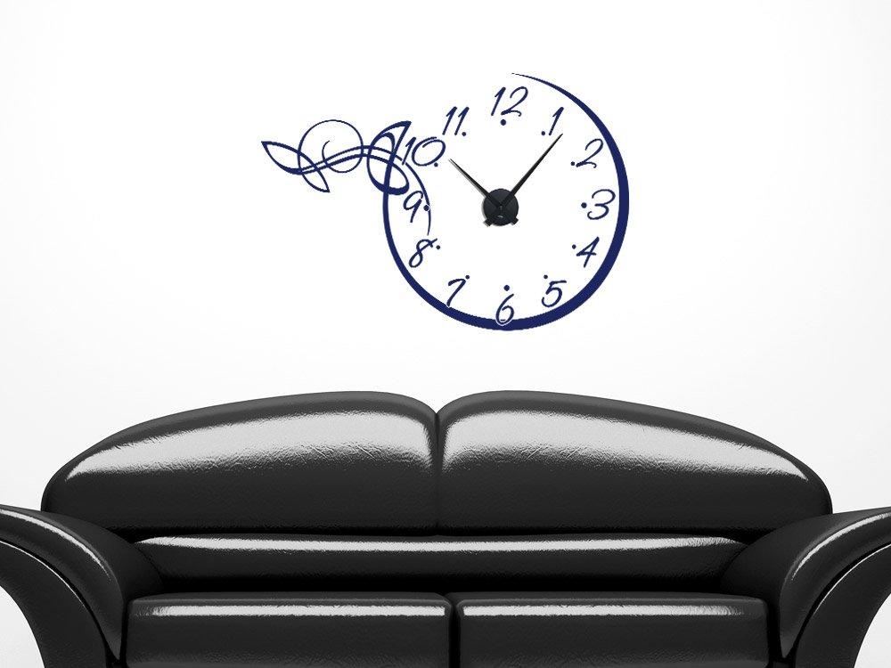Grazdesign 800134si816 Punkte Wandtattoo Wandaufkleber Uhr Wanduhr