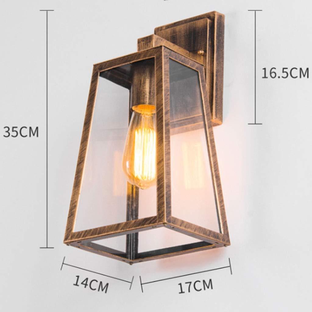 buon prezzo Lampada da da da parete per esterni Lampada per balconi da esterno per balconi in stile americano (colore   Brass)  articoli promozionali