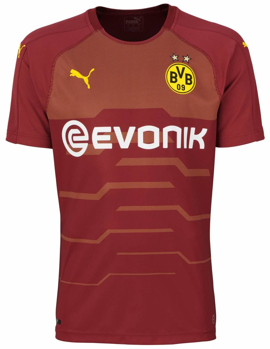 Puma Kinder BVB Ss Gk Shirt Replica Jr with Evonik Logo Without Opel Log Trikot