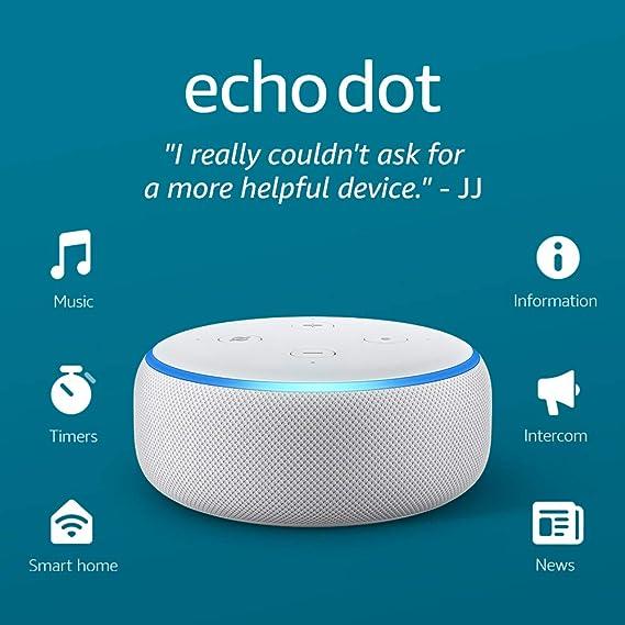 Amazon.com: Echo Dot (3ra Gen) - Parlante inteligente con Alexa - Gris claro