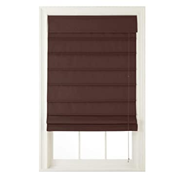 Window Blind Store Thermal Lined Roman Shades Espresso 27x64