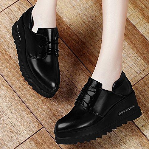 GTVERNH-Mode Schwarze Lässige Schuhe Schwarze GTVERNH-Mode Alle Übereinstimmen Schuhe Schuhe Schuhe Schuhe Für Den Frühling Und Herbst Zeit Po Thirty-seven 7a5a30