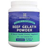 EXTRA LARGE Grass-Fed Gelatin Powder, 3 lb. Custom Anti-Aging Protein for Healthy...