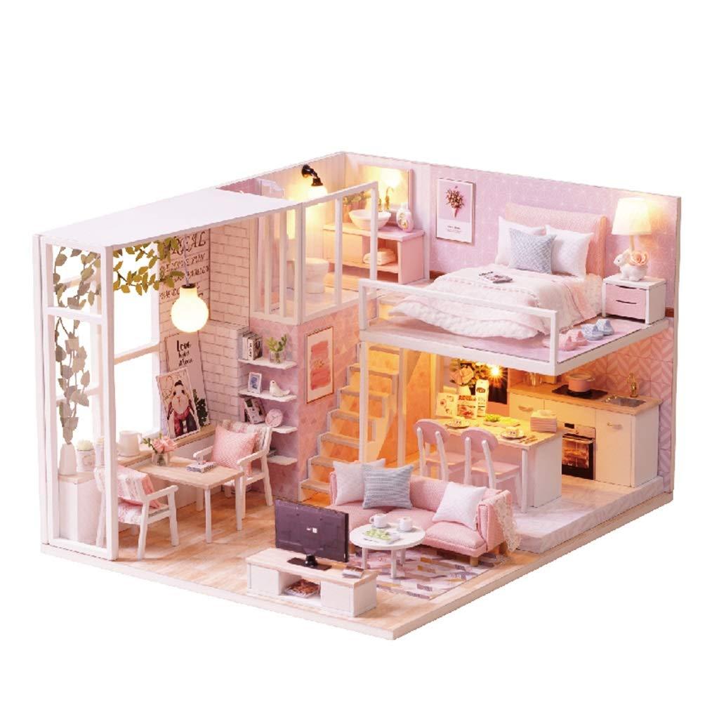 Todos los productos obtienen hasta un 34% de descuento. Muebles para muñecas Fashion Juguetes para niños Bloques de de de construcción de la habitación de los niños Juguetes habitación Mini para niños y niñas Juguetes educativos para niños 2~15 Regalo de  comprar mejor