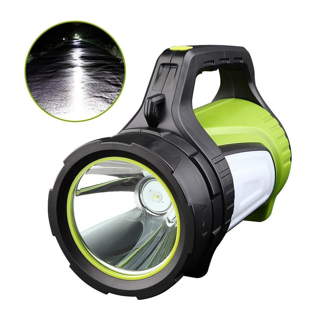 WRlight LED-Scheinwerfer wiederaufladbare tragbare Handscheinwerfer Camping Licht, Mobile Power High Power super helle 5600 mAh Taktische Taschenlampe Abenteuer Licht