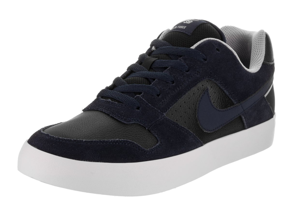 NIKE Men's SB Delta Force Vulc Skate Shoe 10.5 D(M) US|Obsidian Black Wolf Grey