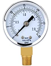 MagiDeal 0-30psi 0-2bar Manomètre de Pression Mini-cadran Compresseur d'air Mètre Jauge de Pression Hydraulique