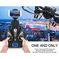 Leewa@ iDrone i6W 2.4G 6-Axis Gyro Wifi FPV Live HD Camera RC Flying Quadcopter -Black