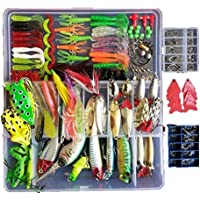 Smartonly 275pcs Fishing Lure Set Including Frog Lures...