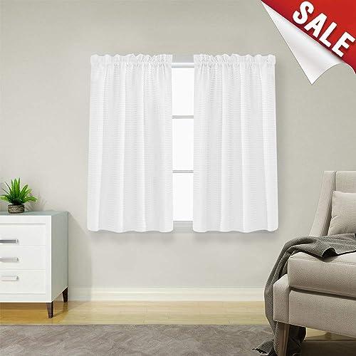 White Kitchen Curtains: Amazon.com