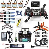 QWinOut 300mm Mini 2.4G 6CH RC Drone Quadrocopter DIY Unassembly Full Set ARF 6M GPS APM 2.8 FC Flysky FS-i6