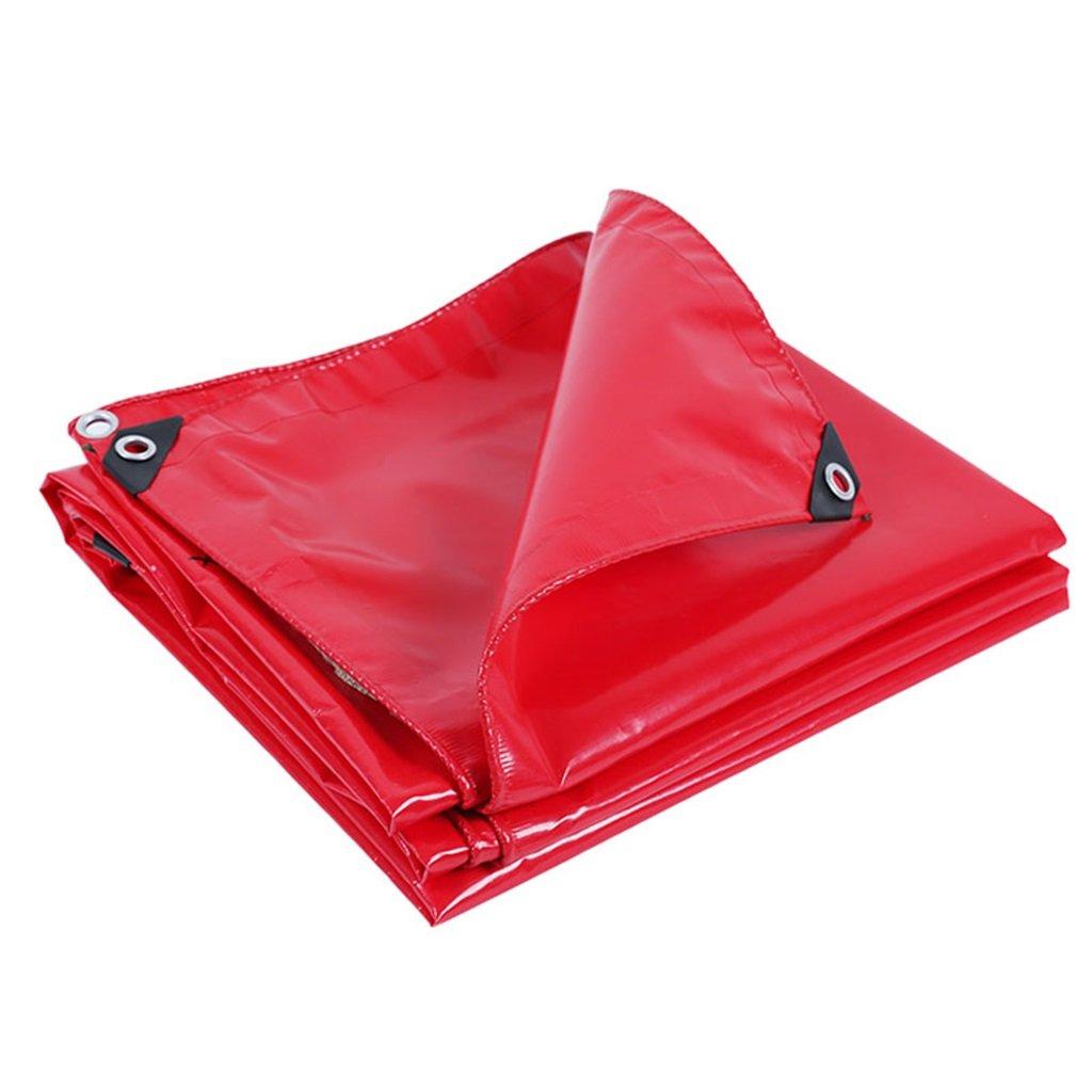 WSGZH Starke Rote Wasserdichte Plane Zelt Kissen Bodenbelag Für Camping, Angeln, Gartenarbeit, Mehrere Größenoptionen (rot)
