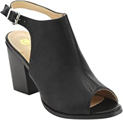129418d5f2c Chase   Chloe Willy-5 Women s Slingback Buckled Open Heel Chunky Ankle  Booties