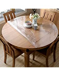 OstepDecor Custom 1.5mm Thick Crystal Clear Table Top Protector Plastic  Tablecloth Kitchen Dining Room Wood