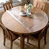 OstepDecor Upgraded Version Clear Round Table Cover, 2mm Thick 40 Inches Round Table Protector, No Plastic Smell Waterproof Clear Tablecloth, Vinyl Circle Table Cover for Coffee, Dining Room Table