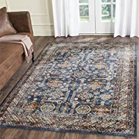 Safavieh Bijar Collection BIJ653B Traditional Oriental Vintage Royal Blue and Ivory Runner (23 x 8)