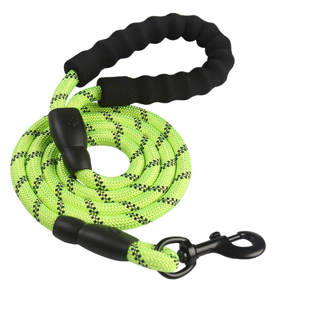 Green Pet Multi-Function Outdoor Sports Training Dog Walking Leash Running, Small for Large Dogs,Green