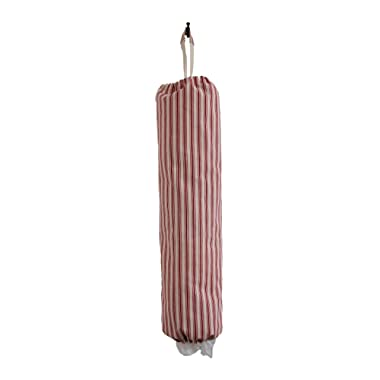 Plastic Grocery Bag Holder and Dispenser - Red Stripes