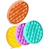 MIRACLE BLACK 4 Pcs Push Pop Bubble Fidget Toy, Bubble Popping Sensory Fidget Toy Pack Autism Toy Special Needs Stress Reliev