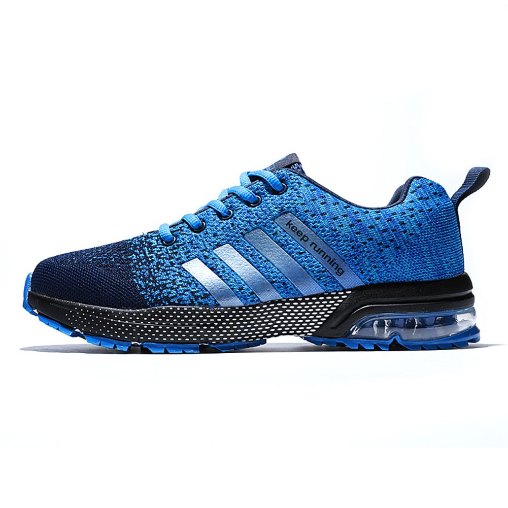 XIDISO Mens and Womens Sneakers Air Cushion Sports Running Shoes for Men Lightweight Breathable Athletic B075HBWTW7 9.5 US Women/8 US Men= EU 41|Blue/Black