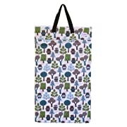 Large Hanging Wet Dry Bag for Baby Cloth Diapers or Laundry (Owl)