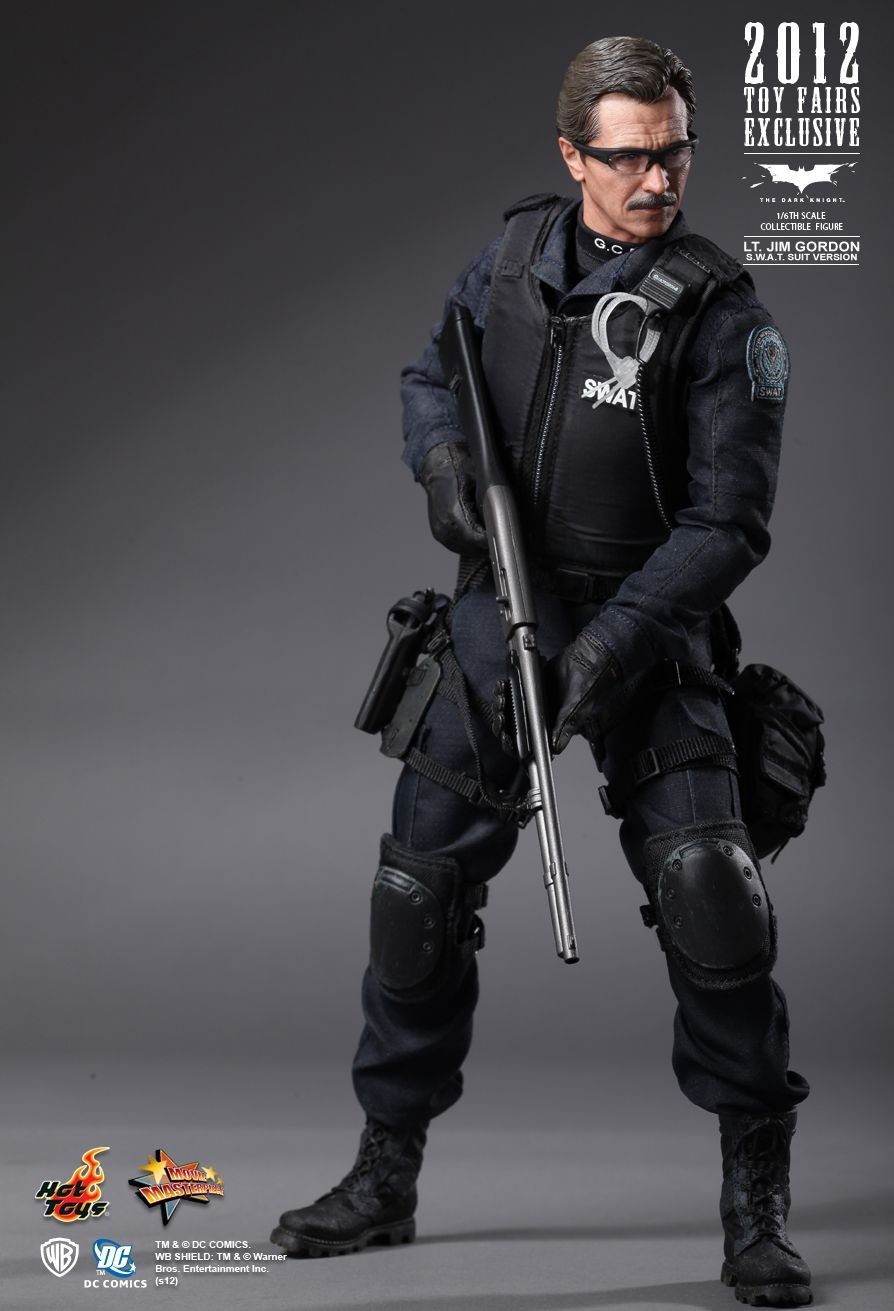 Batman Figurine Comic Con 2012 Lt. Gordon SWAT