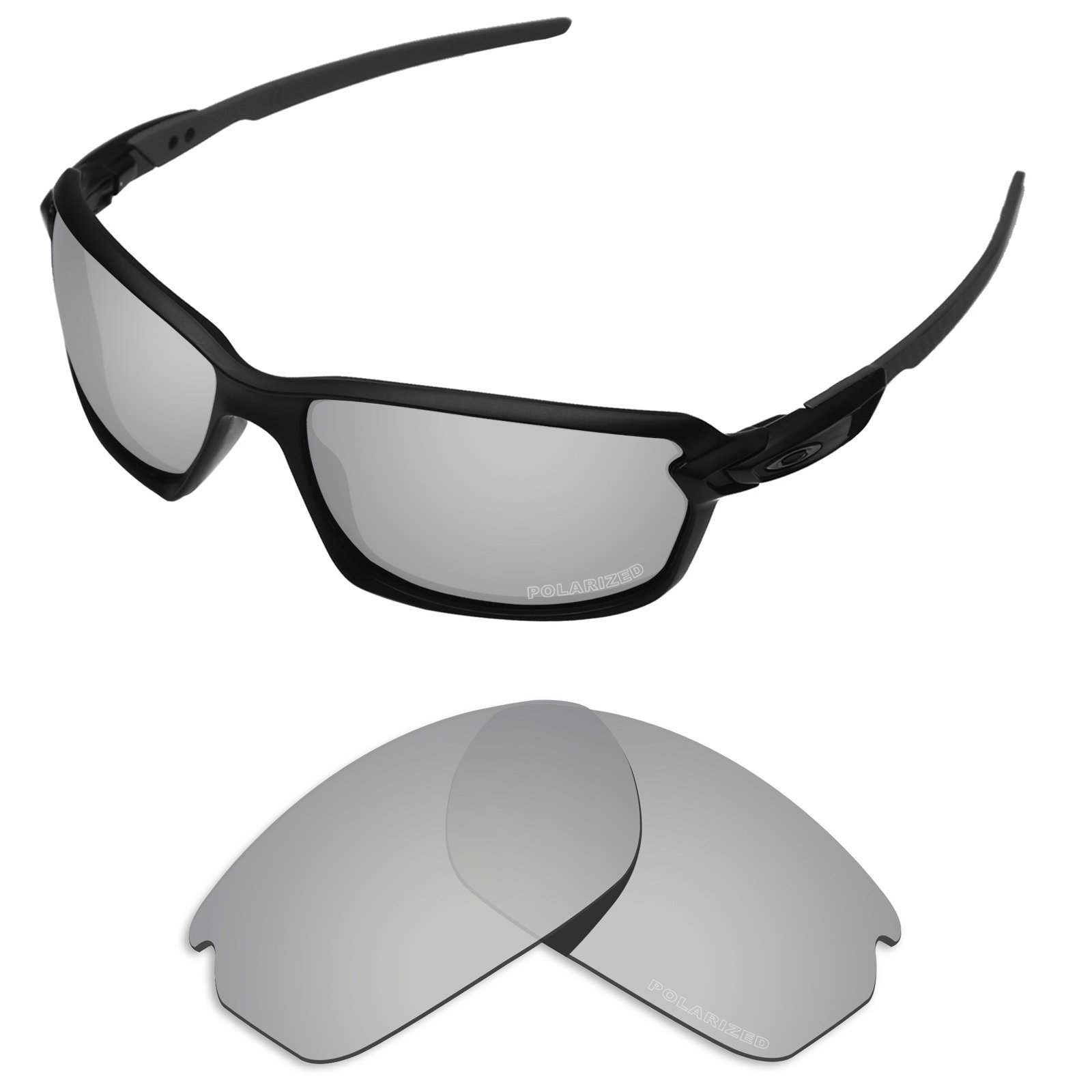 0fd89d6993ab3 Tintart Performance Lenses Compatible with Oakley Carbon Shift Polarized  Etched-Silver Metallic