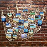 Beach Bathroom Decor Ecjiuyi Mediterranean Decorative Nautical Fish Net With Sea Shells and Clips for Home Wall Decorations,Ocean Beach Style Room Decor, Perfect for Fish Themed Party Bathroom Bedroom Decorations(White)