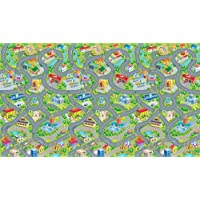 "Happyville Smart Mat by PlaSmart - Multi-purpose Play Mat, 78"" x 46"" Giant Play Surface, Road/Cars Floor Mat, Washable EVA foam, Ages 0 and Up"